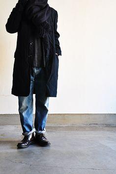 un.regard.moderne Cool Jackets, Japan Fashion, Bermuda, Denim Fashion, Autumn Winter Fashion, Men Casual, Menswear, Street Style, How To Wear