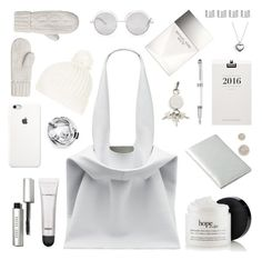 """""""What's in my bag"""" by deeyanago ❤ liked on Polyvore featuring Bobbi Brown Cosmetics, Alexander Wang, Topshop, Forever 21, Clava, Target, Montblanc, Michael Kors, Maison Margiela and Pandora"""