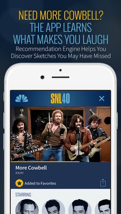 To celebrate the show's 40th anniversary,Saturday Night Live has released an official iPhone app with sketches and other content from the show's 40-year run. Fans can search sketches by season or ...