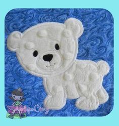 Polar Bear Applique design by AppliqueCrazy on Etsy