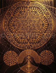 Beautiful mandala example: The Flower of Life is one of the most sacred of geometric symbols. It is a geometrical shape composed of multiple evenly-spaced, overlapping circles arranged in a flower like pattern with six fold symmetry like a hexagon. Mandala Design, Mandala Art, Flower Mandala, Sacred Symbols, Sacred Art, Alchemy Symbols, Sacred Geometry Tattoo, Mystique, Visionary Art