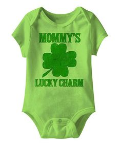 Look what I found on #zulily! Key Lime 'Mommy's Lucky Charm' Bodysuit - Infant by Festivi-tees #zulilyfinds