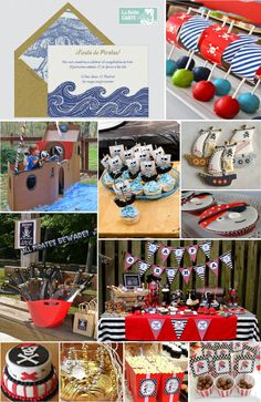 Pirate party- cardboard boat
