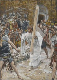 Station 9. Jesus Meets the Women of Jerusalem — Stations of the Cross (Scriptural / Biblical), illustrated by James Tissot