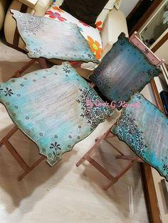 Mesas plegables Decoupage Furniture, Hand Painted Furniture, Paint Furniture, Upcycled Furniture, Furniture Makeover, Mandala Design, Painting On Wood, Decoration, Diy And Crafts