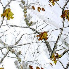 Realtree AP Snow Camo Satin Fabric
