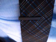 Matte black tie bar / men's style
