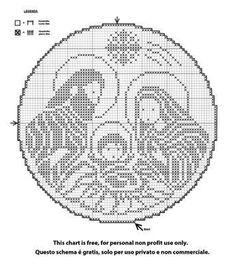 presepe a crochet Filet Crochet Charts, Crochet Diagram, Cross Stitch Charts, Cross Stitch Patterns, Christmas Crochet Patterns, Christmas Embroidery, Thread Crochet, Crochet Doilies, Cross Stitch Christmas Ornaments