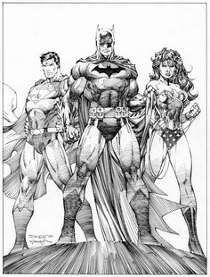 TRINITY illustrated by Jim Lee & Scott Williams (inks)