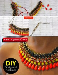 Hand Made Necklace Tutorial Necklace Tutorial, Diy, Handmade, Accessories, Beautiful, Style, Jewelry, Fashion, Do It Yourself
