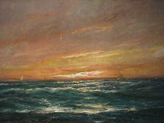 Peder Balke, Atardecer, Marina (Sunset at sea, n.d.)