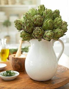 Make a baby artichoke arrangement tutorial.   AND 45 BEST Spring Party & Decor Tutorials EVER with their LINKS!!! GIFT, PARTY, EVENT, SPRING, WEDDING DECOR. Blog & Photos from MrsPollyRogers.com