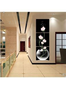 New Arrival Fragrant Pink Flowers In the Glass Cross Film Wall Art Prints