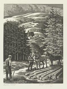 Border Forest by George Edward Mackley 1960-1961 Wood-engraving