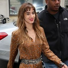 Sofia Boutella arrives at BBC Radio One in London to promote the new movie 'The Mummy'