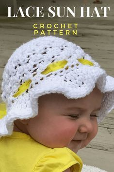How to Create Super Cute Crochet Baby Sunhat | One woman's view on the creativity of life