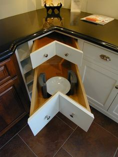 Lower bathroom cabinet drawer a step stool it slides for Can you use kitchen cabinets in bathrooms