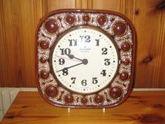 Vintage Junghans/Herbolzheimer West German Ceramic Wall Clock by DeeGeeRetro on Etsy