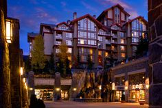 Where wee stay when skiing at Whistler. The Westin Resort & Spa is right off the mountain and next to the ski school! Perfect spot for families!