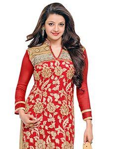 Surat Tex Womens Georgette Anarkali Unstitched Dress Material (C971Dl53004Sh _Red)