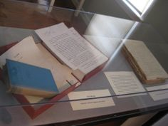 """Lincoln books and handwritten manuscripts. Lincoln hand wrote his manuscripts in pencil. He had a favorite """"prolific pencil"""" that is housed in the collection at Atwood House Museum, Chatham, Ma."""