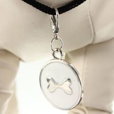 L Anti-Lost Pet Dog Cat ID Tag Metal Stainless Steel Name Charm Tags Pendant - Intl