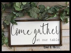 Come Gather at Our Table Kitchen Decor Dining Room Sign Farmhouse Sign Family Framed Sig Farmhouse Dining Room decor Dining Family Farmhouse Framed Gather Kitchen Room sig sign Table Rustic Kitchen Decor, Country Farmhouse Decor, Farmhouse Style Kitchen, Farmhouse Signs, Rustic Decor, Kitchen Dining, Kitchen Ideas, Kitchen Wood, Country Kitchen