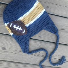 #BarnOwlCrochet #Crochet #handmade #Hat #WestVirginia #Mountaineers #football…