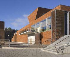 Finnish Forest Museum and Information Centre Lusto, Punkaharju, Finland - Lahdelma & Mahlamäki Architects Finland, Architects, Centre, Stairs, Museum, Traditional, Building, Home, Stairway