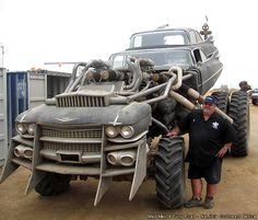The Gigahorse! Monster Cadillac Rat-Rod From Mad-Max 4 Fury Road, That's right! I can't wait until 2015 to see the movie. I been waiting decades now.