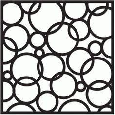 Silhouette Design Store: bubbles 12x12 screen