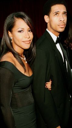 Aaliyah with her brother.