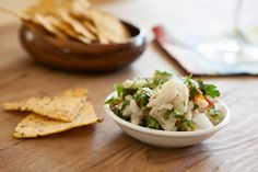 Ceviche av kveite Looks Yummy, Frisk, Mets, Better Life, Guacamole, Food Inspiration, Chili, Tacos, Mexican
