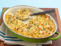 """Get this all-star, easy-to-follow Cauliflower """"Mac"""" and Cheese Casserole recipe from Low Carb and Lovin' It"""
