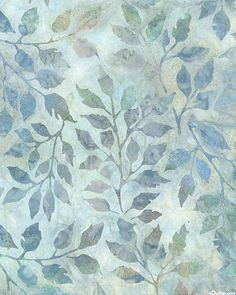 Grove 2 - Leaf Whisper Impressions Batik - Shadow Gray
