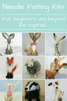 Needle felting kits for beginners and beyond.