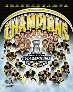 Pittsburgh Penguins 2016 Stanley Cup Champions 12-Player Commemorative Premium Poster - Photofile – Sports Poster Warehouse