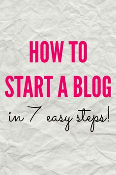 How to Start a Blog - Simply Nicole