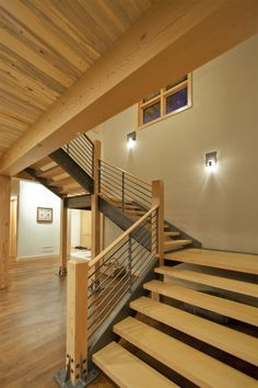 modern, rustic industrial staircase railing - Google Search