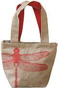 Ganesh - Jute bag dragonfly bag made by Freeset, Kolkata. Fair trade