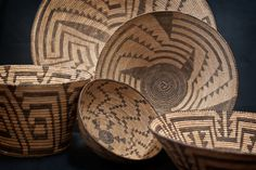 Some of my Pima baskets.  Photographed by my wife Jennifer.