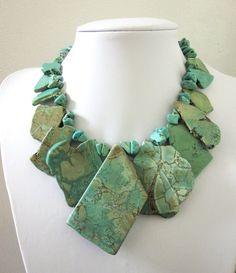 Image via We Heart It https://weheartit.com/entry/141996794/via/27986427 #blue #jewelry #necklace #slab #turquoise #western #buffalostone
