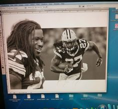 Tom Kbrink's Art and Holistic Living: NFL Season is Here - Eddie Lacy Artwork