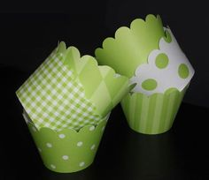 Lime Green Cupcake Wrappers