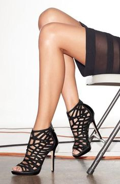 Obsessed: Sam Edelman Black Cage Peep Toe Bootie Visit www.TheLaFashion.com for more Fashion insights and tips.
