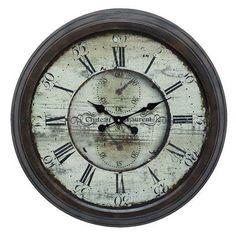 "Cole & Grey Oversized Metal 28"" Wall Clock"