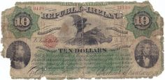 1866 Fenian Bond Irish Republic Ten Dollars Political Issues, Bond, Ireland, Irish, Vintage World Maps, Coins, Paper Envelopes, Irish Language