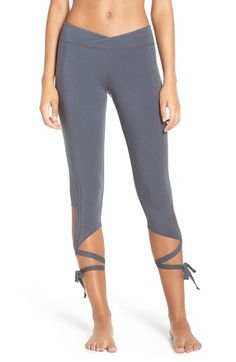 Free People 'Turnout' Tie Up Leggings available at #Nordstrom
