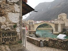 In Moscar, Bosnia and Herzegovenia, a UNESCO Heritage site, this bridge was built by Turkish architect Hajrudin in the 14th century. Midhat Poturovic