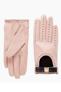 12 Pairs Of Gloves To Keep Your Digits Cozy #refinery29  http://www.refinery29.com/gloves#slide-5  kate spade new york Perforated Leather Gloves, $148, available at kate spade new york.